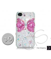 Meso-Ribbon 3D Crystallized Swarovski Phone Case - Red