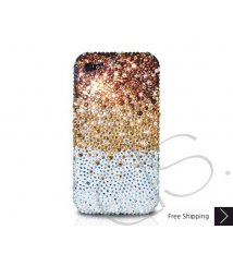 Gradation Crystallized Swarovski Phone Case - Gold