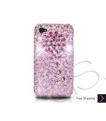 Diamond Flower Crystallized Swarovski Phone Case - Pink