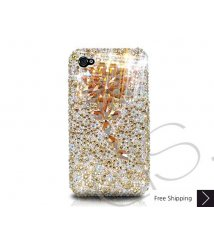 Diamond Flower Crystallized Swarovski Phone Case - Gold