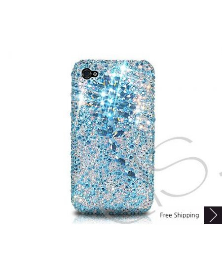 Diamond Flower Crystallized Swarovski Phone Case - Blue