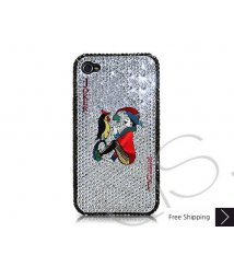 poker Heart Joker Crystallized Swarovski iPhone 4 Case