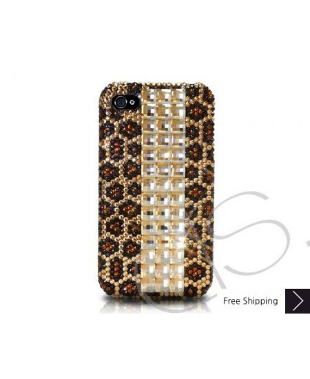 Cubical Leopardo Crystallized Swarovski Phone Case