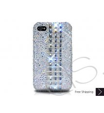 Cubical Alloy Crystallized Swarovski Phone Case