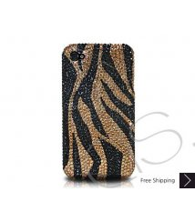 Zebra Crystallized Swarovski Phone Case - Gold