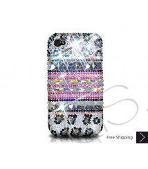 Stripe Print Crystallized Swarovski Phone Case