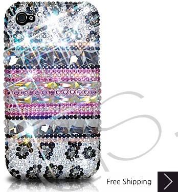 Stripe Print Crystallized Swarovski Phone Case