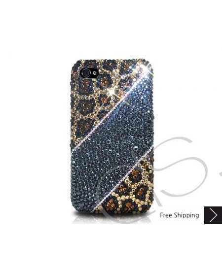 Leopardo Print Crystallized Swarovski Phone Case