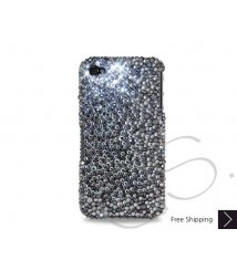 Organize Crystallized Swarovski Phone Case - Silver & Black