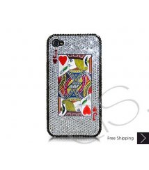 Poker Heart Jack Crystallized Swarovski iPhone 4 Case