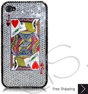 火かき棒の心ジャック シャネルクリスタルスワロフ スキー iPhone 4 ケース