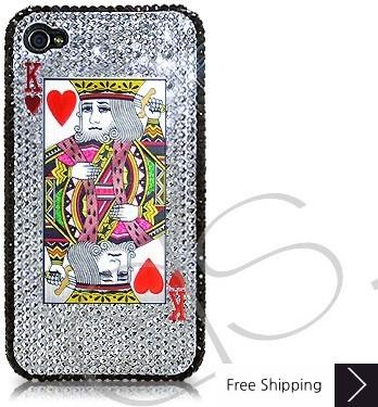 火かき棒心王結晶化スワロフ スキー iPhone 4 ケース
