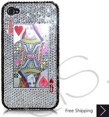 火かき棒の中心の女王結晶化スワロフ スキー iPhone 4 ケース