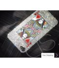Poker Heart Queen Crystallized Swarovski iPhone 4 Case