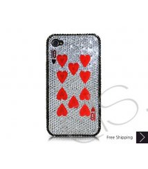 Poker Heart Ten Crystallized Swarovski iPhone 4 Case