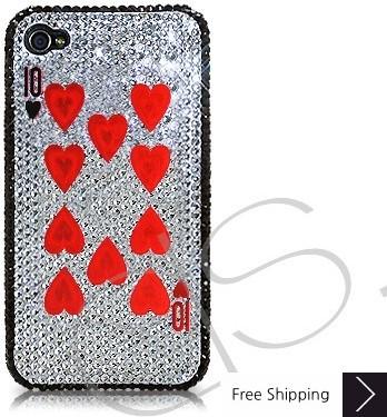 火かき棒の心 10 シャネルクリスタルスワロフ スキー iPhone 4 ケース