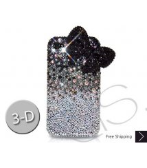 Ribbon Gradation 3D Black Bling Swarovski Crystal iPhone XS and MAX iPhone XR Case