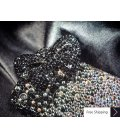 Ribbon Gradation 3D Black Crystallized Swarovski Phone Case