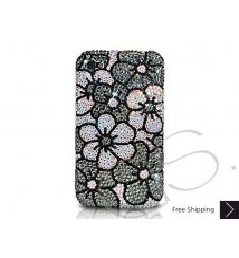 Blossom Crystallized Swarovski Phone Case - Black
