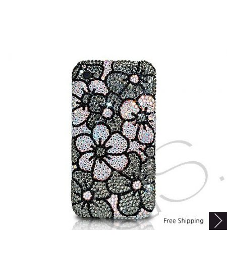 Blossom Crystallized Swarovski Phone Case - Black