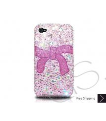 Ribbon Bling Swarovski Crystal iPhone 12 Case iPhone 12 Pro and iPhone 12 Pro MAX Case - Pink