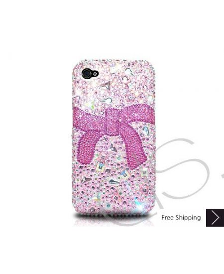 Ribbon Crystallized Swarovski Phone Case - Pink