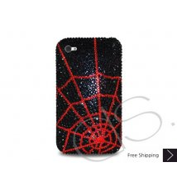 Spider Web Crystallized Swarovski Phone Case - Red