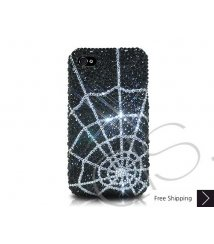 Spider Web Crystallized Swarovski Phone Case - Silver