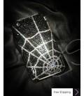 Spider Web Crystallized Swarovski Phone Case - Silver