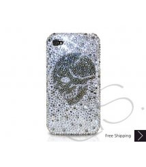 Skull Crystallized Swarovski Phone Case - Silver