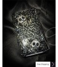 Two Skulls 3D Crystallized Swarovski Phone Case