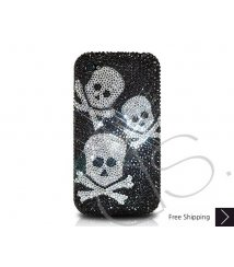 Three Skulls Crystallized Swarovski Phone Case