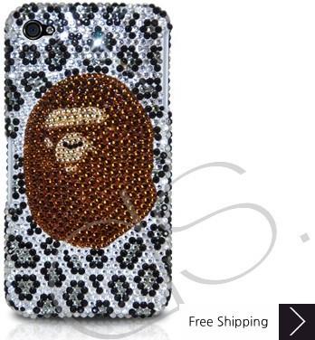 入浴猿のクリスタルスワロフ スキー電話ケース