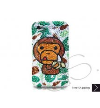 猿のバナナ クリスタルスワロフ スキー電話ケース