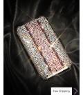 Stitching Pink Crystallized Swarovski Phone Case