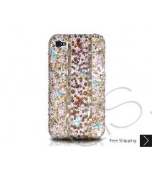 Stitching Gold Crystallized Swarovski Phone Case
