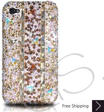 Stitching Gold Crystallized Swarovski Phone Case