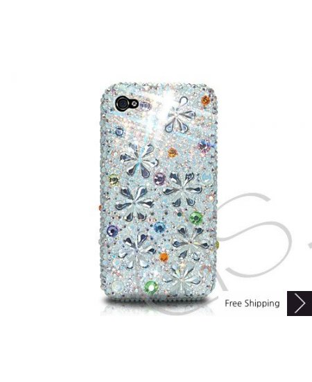 Petal Drops Crystallized Swarovski Phone Case - Orange