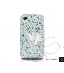 Petal Drops Crystallized Swarovski Phone Case - White