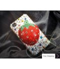 Strawberry 3D Crystallized Swarovski Phone Case