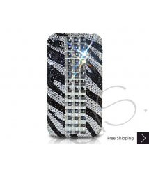 Cubical Zebra Crystallized Swarovski Phone Case