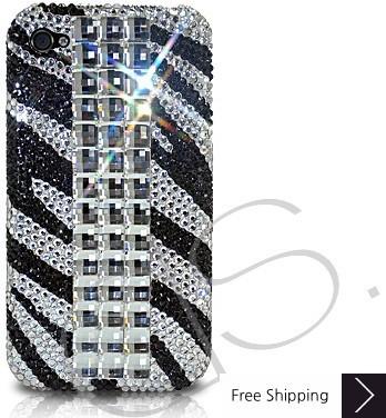 Cubical Zebra Crystallized Swarovski Phone Case