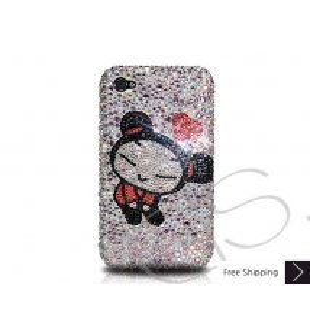 Cute Girl Crystallized Swarovski Phone Case