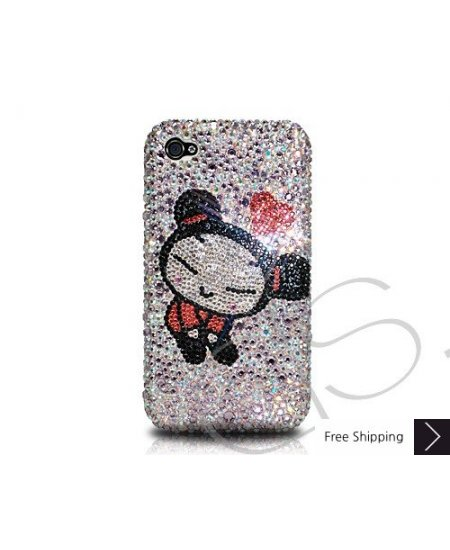 Cute Girl Crystallized Swarovski Phone Case