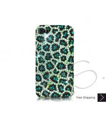 Leopardo Crystallized Swarovski Phone Case - Green