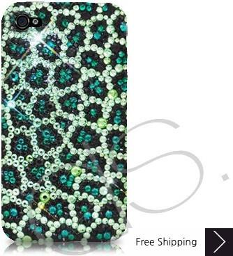 Leopardo Crystallized Swarovski Phone Case - Green
