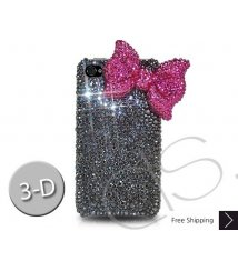Ribbon 3D Crystallized Swarovski Phone Case - Magenta