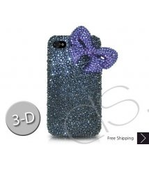 Ribbon 3D Crystallized Swarovski Phone Case - Purple