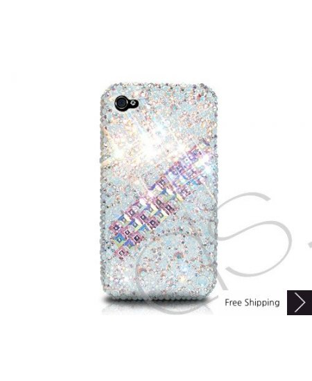 Scatter Cubical Crystallized Swarovski Phone Case - White