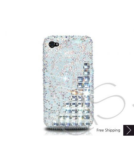 Scatter Cubical Crystallized Swarovski Phone Case - Silver